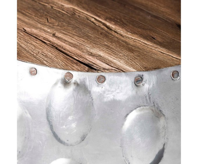 Столик-бочка с деревянной столешницей