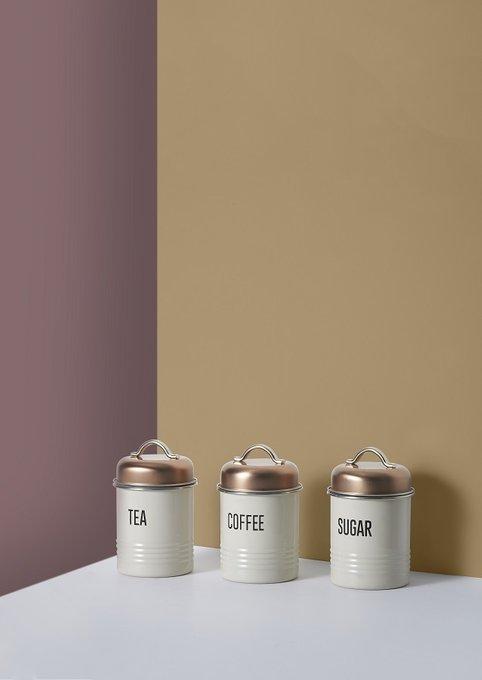 Набор из трех емкостей для специй Vintage Copper
