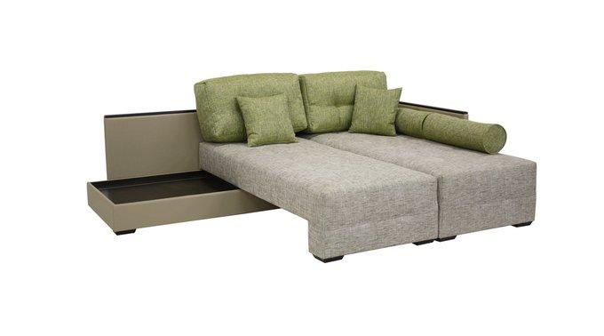 Угловой диван Берн Нео серого цвета