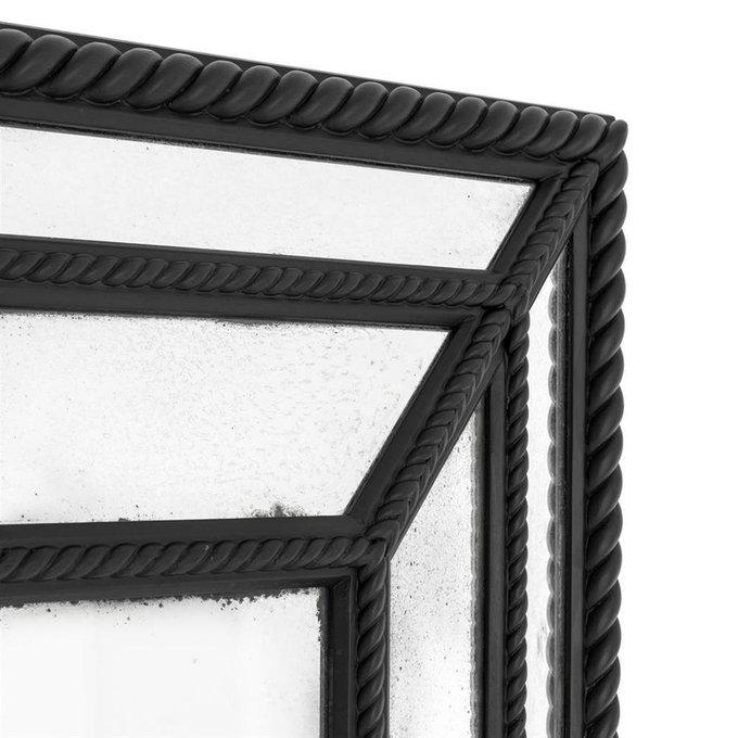 Зеркало Rio Nero с рамой черного цвета