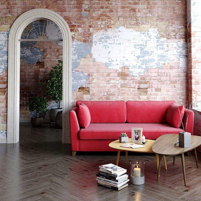 Трехместный диван Wolsly MT бежевого цвета