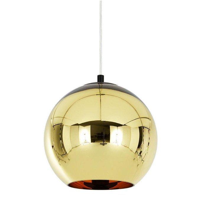 Подвесной светильник Copper Shade золотого цвета
