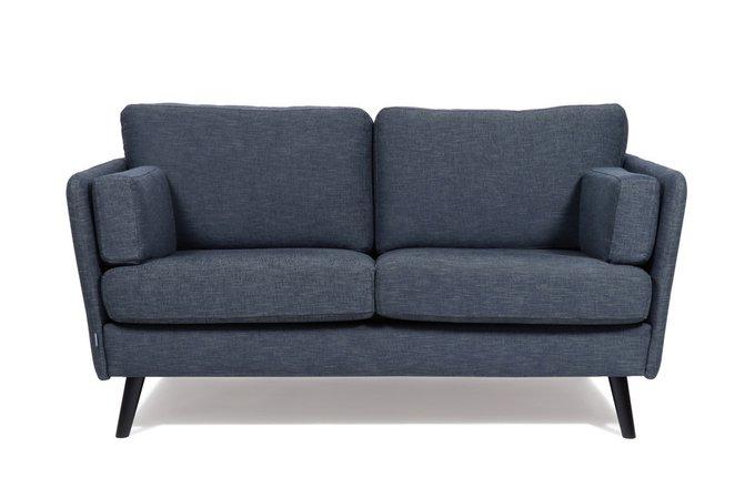 Прямой диван Visby синего цвета