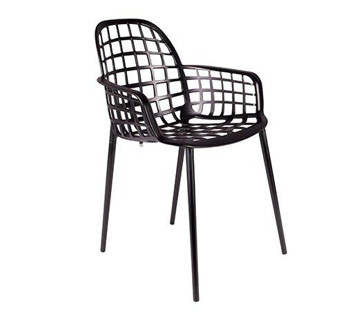 Кресло  Albert Kuip Garden Black черного цвета