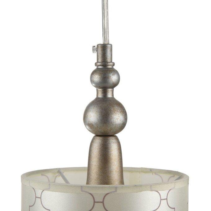 Подвесной светильник Bience с бежевым абажуром