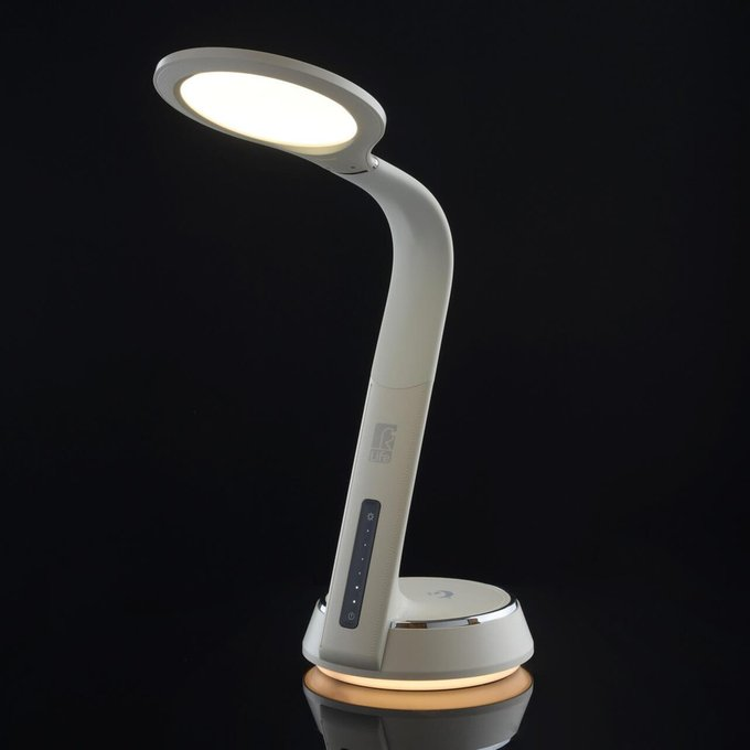 Настольная лампа Ракурс бежевого цвета