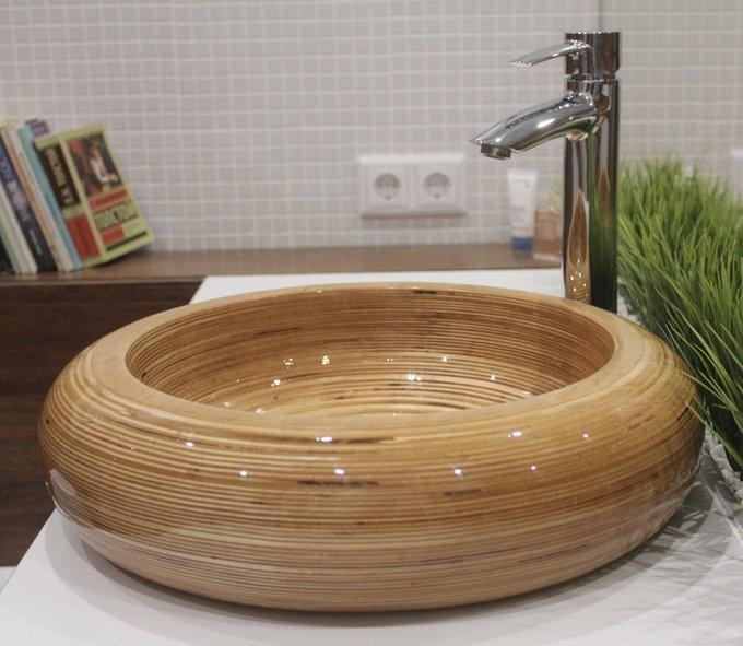 Деревянная Раковина round
