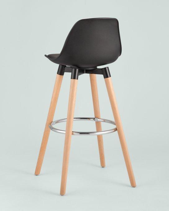 Полубарный стул Мартин черного цвета