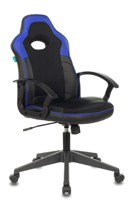 Кресло игровое Бюрократ черно-синего цвета