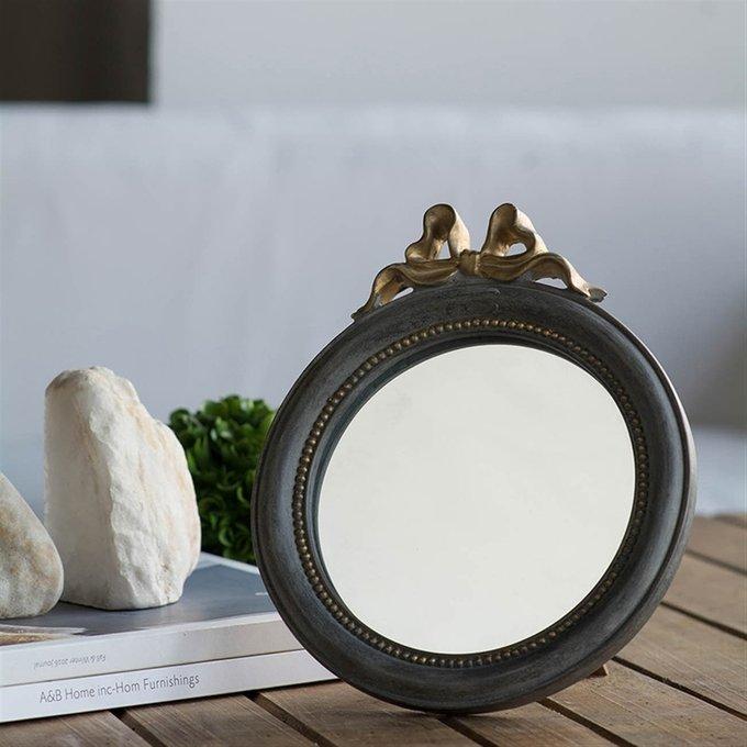 Зеркало настольное в сером цвета