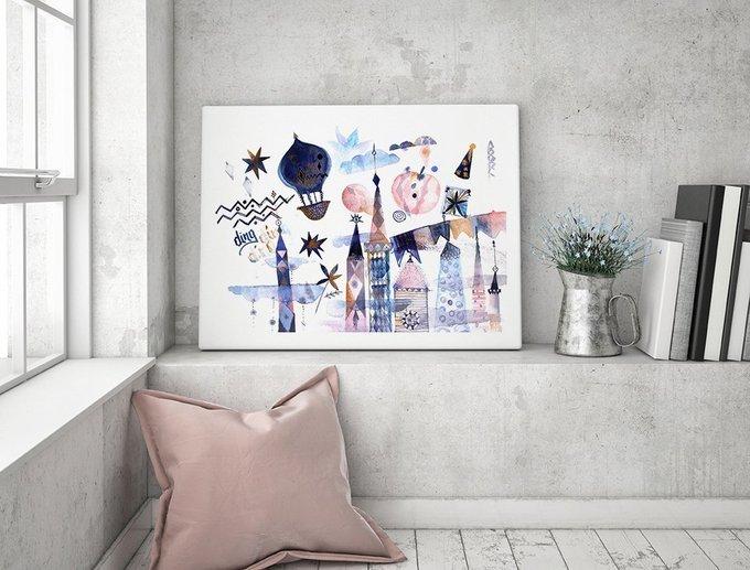Постер Туманный цирк на холсте