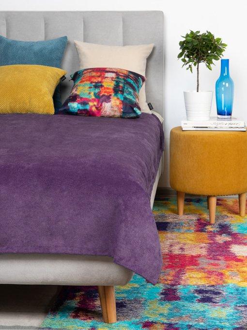 Покрывало Uno Lofty Violet 140x210 фиолетового цвета