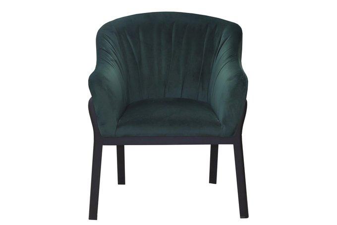 Стул-кресло Moncofa в обивке темно-зеленого цвета