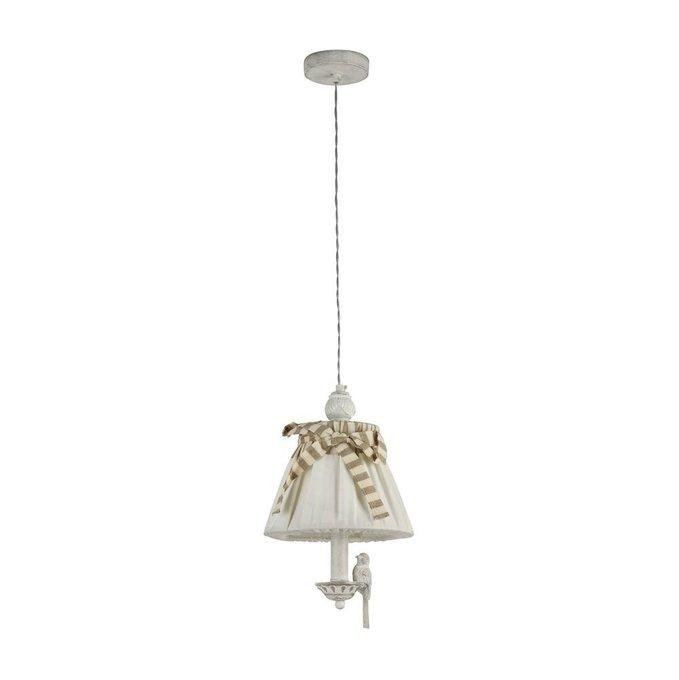 Подвесной светильник Bird с льняным абажуром