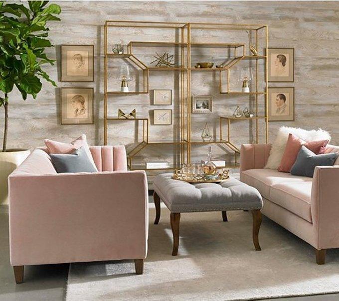 Диван Penelope Sofa Blush розового цвета