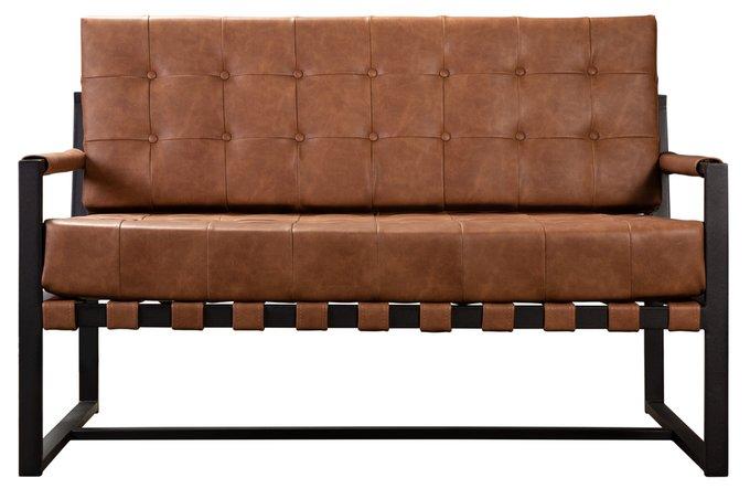 Диван Loft 2-1 коричневого цвета