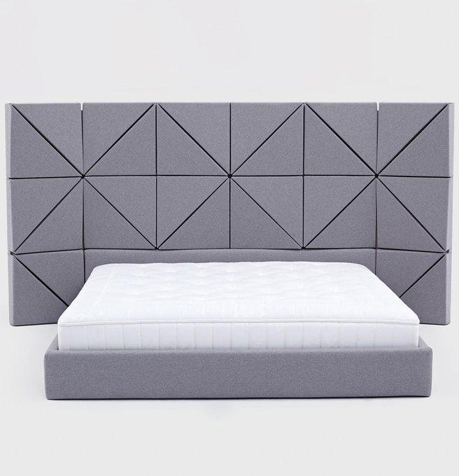 Кровать Floe Comforty серого цвета 160х200