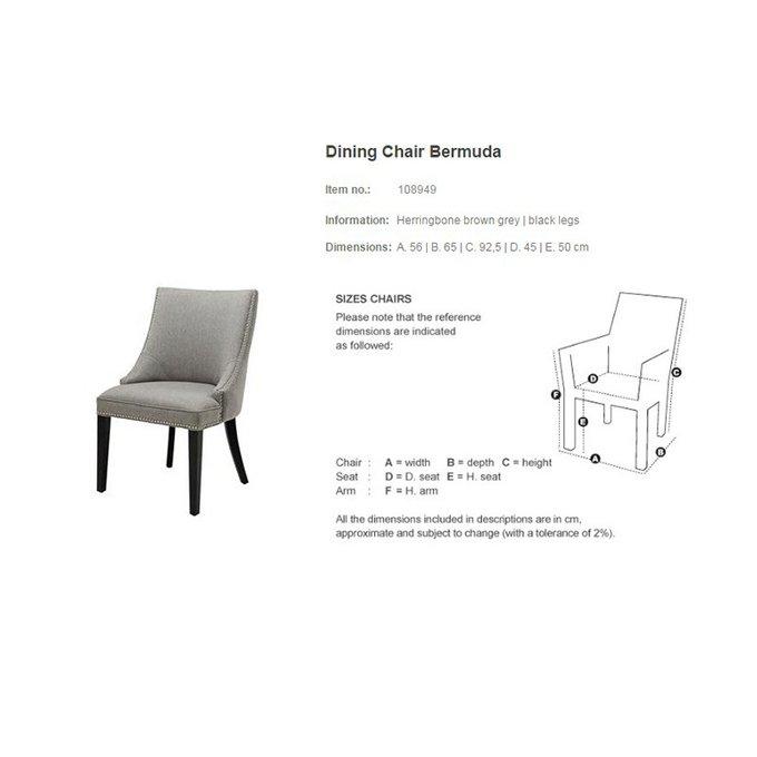 стул с мягкой обивкой Eichholtz Bermuda серый