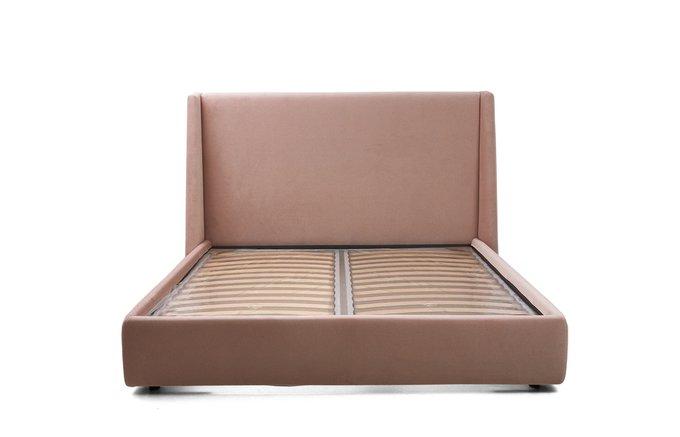 Кровать Эми розового цвета 160х200 с подъемным механизмом