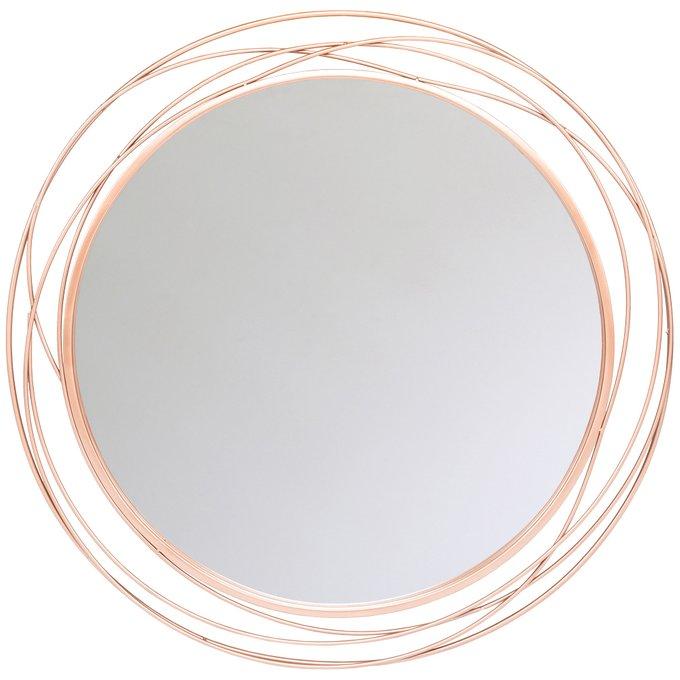 Настенное зеркало Гелиос Роуз цвета Розовое золото