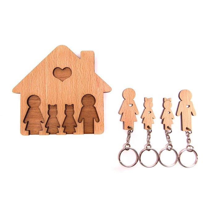 Ключница «семья с двумя дочками»