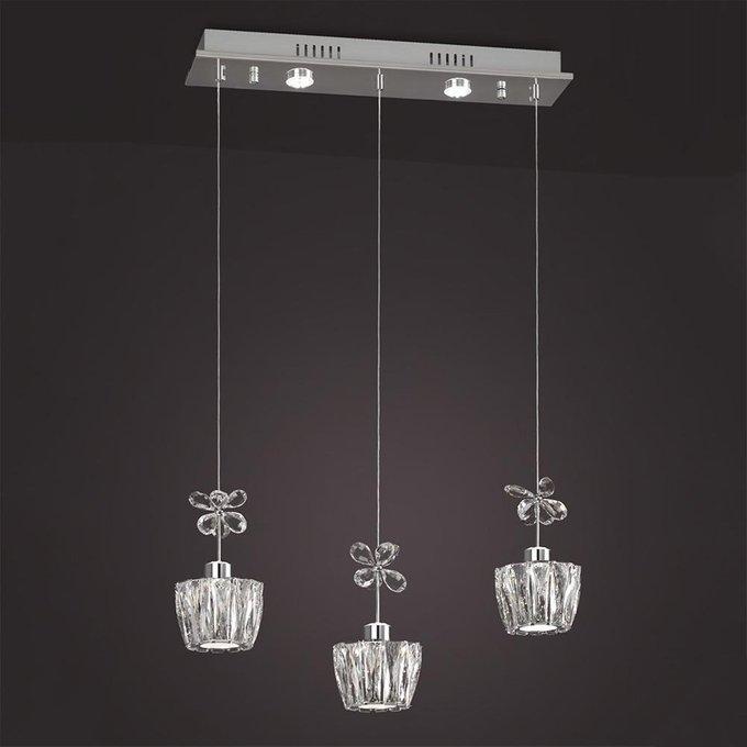 Подвесной светодиодный светильник с пультом ДУ Mantra Strass