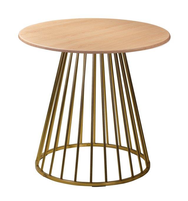 Обеденный стол Twister Matte Gold бук
