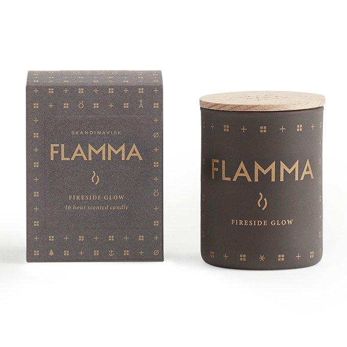 Свеча ароматическая Flamma коричневого цвета с крышкой