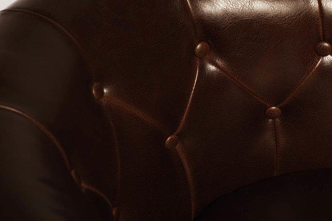 Кресло кожаное коричневое