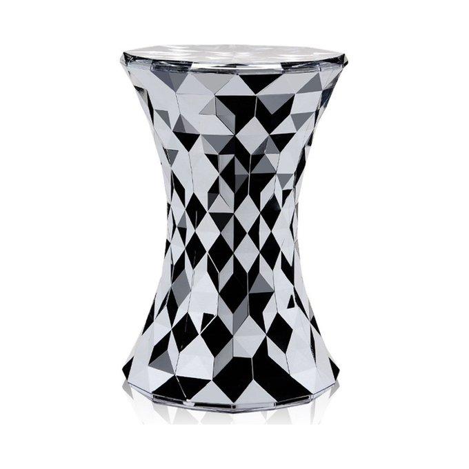 Табурет Stone серо-черного цвета