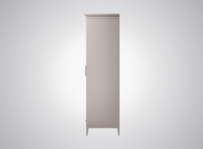 Шкаф для одежды Manhattan серо-молочного цвета