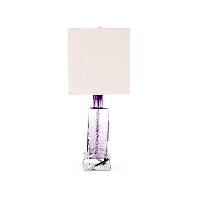 Лампа настольная Versa в белым абажуром