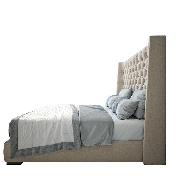 Кровать Jackie King Велюр Бежевый 160х200