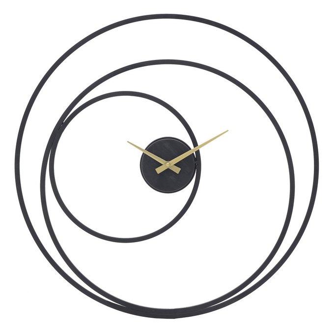 Часы настенные с кварцевым механизмом черного цвета
