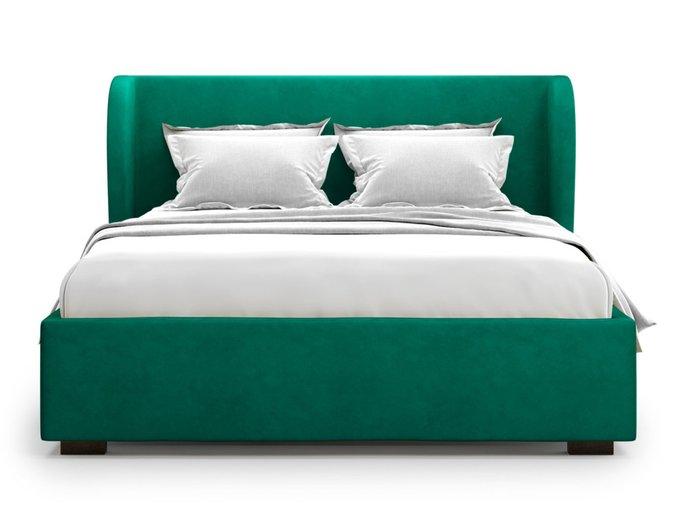 Кровать Tenno 160х200 зеленого цвета с подъемным механизмом