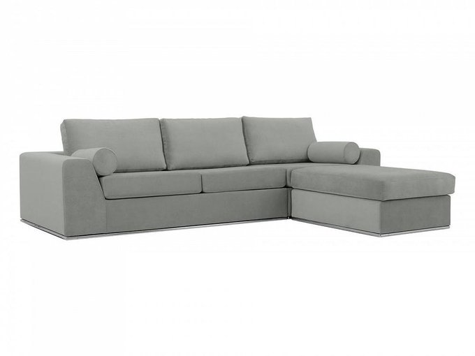Угловой диван-кровать Igarka светло-серого цвета