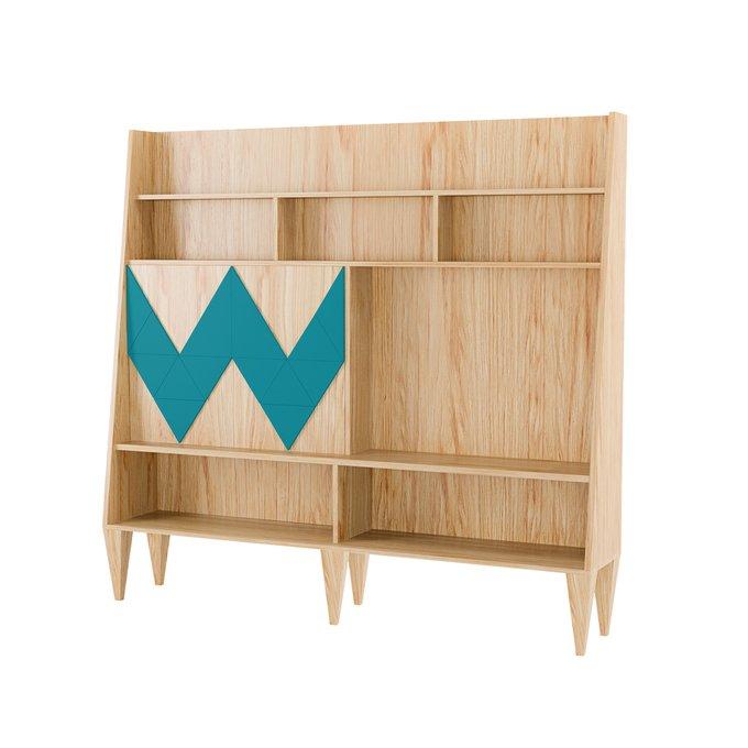 Стенка для гостиной Woo Wall с узором синего цвета