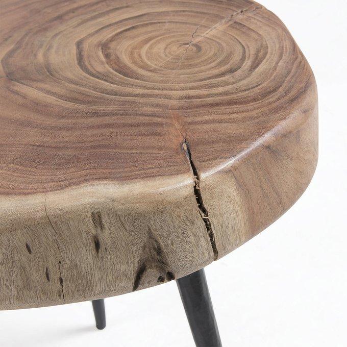 Кофейный столик Rousy с деревянной столешницей