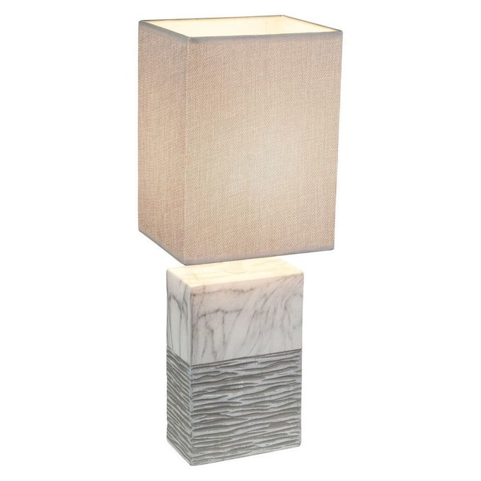 Настольная лампа Globo Jeremy с бежевым абажуром