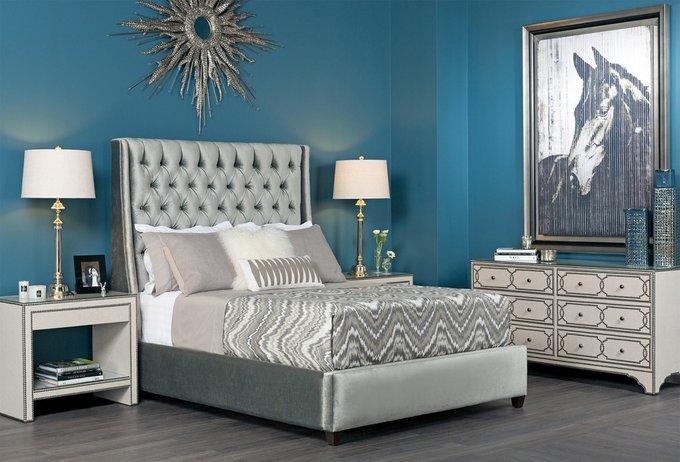 Кровать Ada серого цвета 160х200