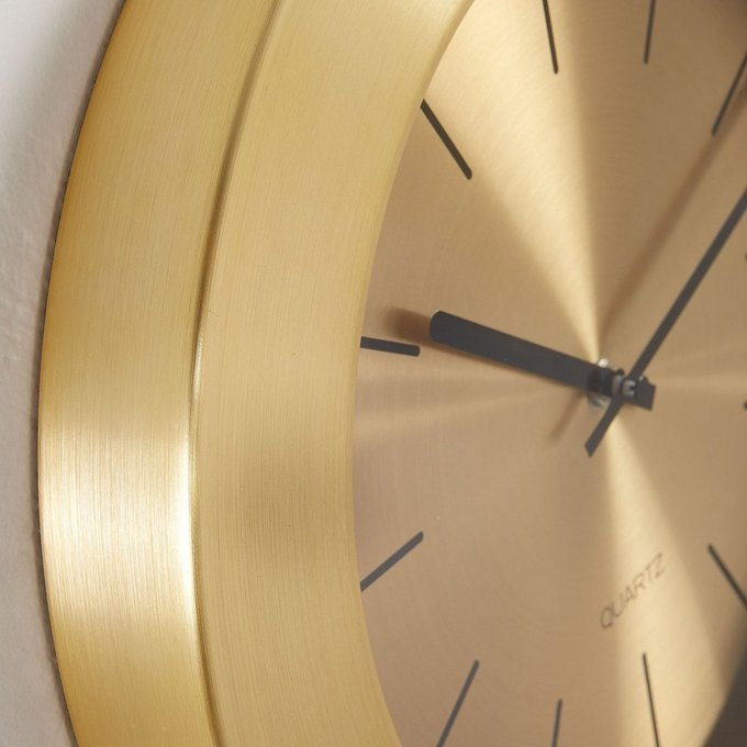 Часы настенные Meyers из металла золотого цвета