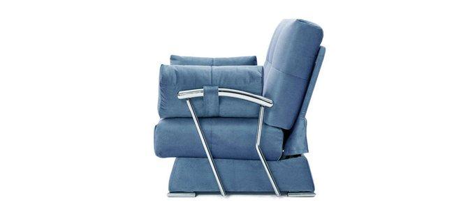 Раскладной диван с подлокотниками Delux GALAXY синего цвета