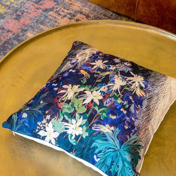 Интерьерная подушка Королевский ирис версия 2
