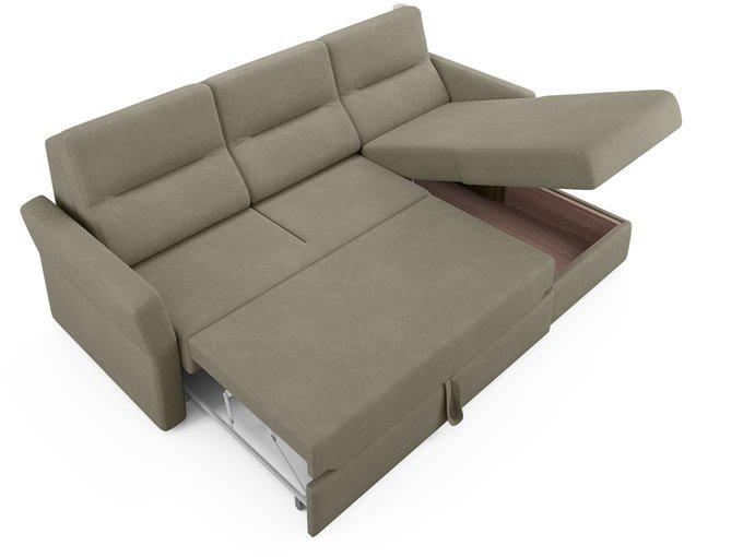 Угловой диван-кровать Sonny бежево-серого цвета