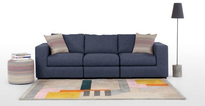 Трехместный раскладной диван Morti синий