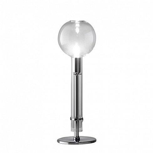 Настольная лампа Ampolla clear/chrome с плафоном из стекла