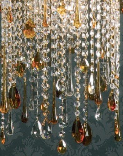 Подвесной светильник Jago Grac из хрусталя и кулоны из муранского стекла