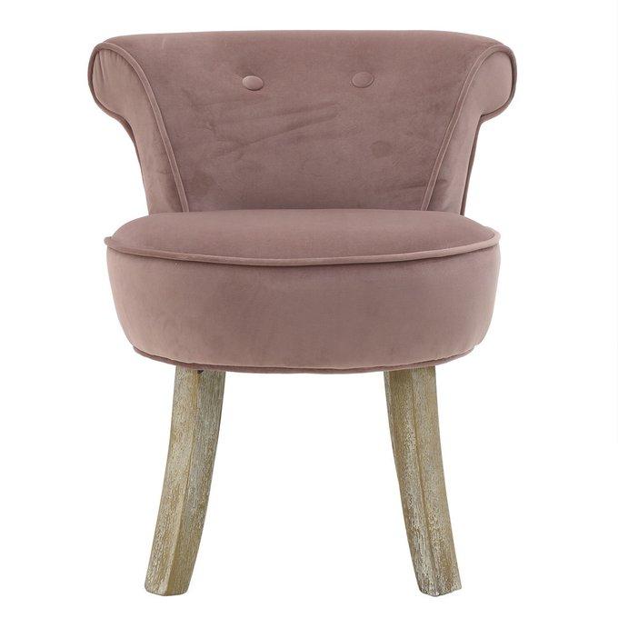 Кресло без подлокотников розового цвета
