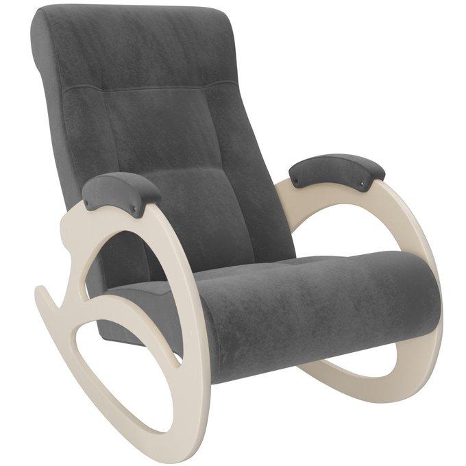 Кресло-качалка Модель 4 без лозы VeronaAntraziteGrey/дуб