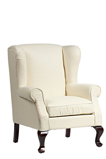 Кресло Soho с обивкой из ткани белого цвета